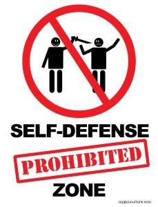 Self-Defense Prohibited Zone