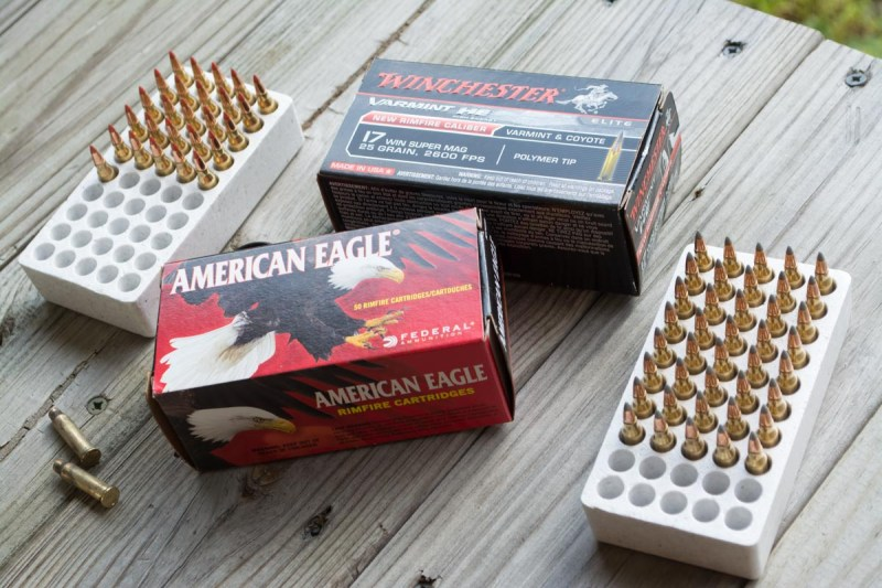 20 and 25 grain tipped projectiles from Winchester and American Eagle.