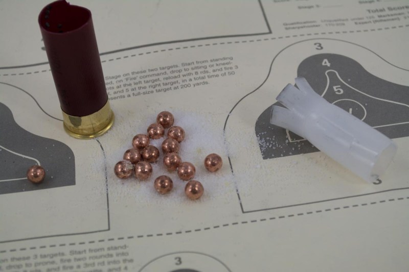 This Federal Tactical 1 buckshot load uses buffer material and a FliteControl wad to keep incredibly tight patterns.