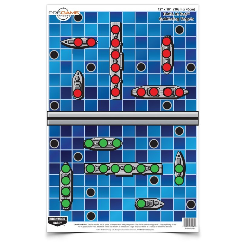 You sunk my battleship! A great target idea from the folks at Birchwood Casey.