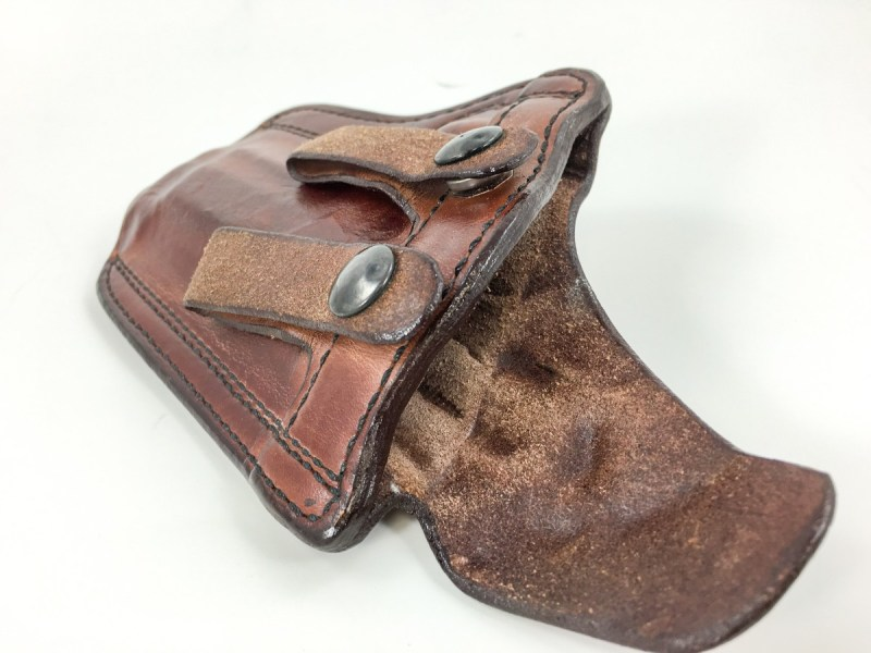 This Don Hume PCCH inside-the-waistband holster has a minimally reinforced mouth, so reholstering might require two hands.