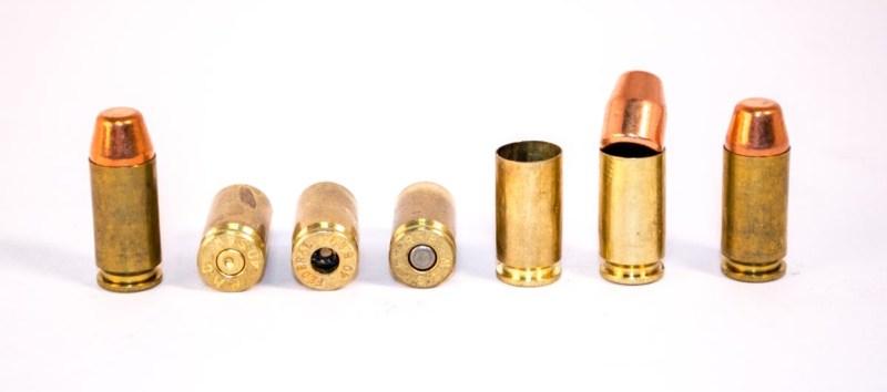 Reloading pistol cartridges.