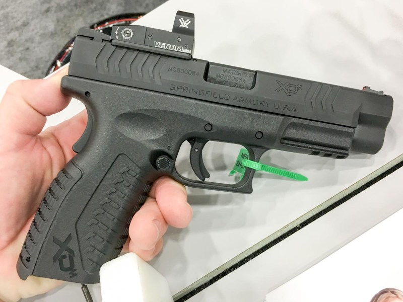 Springfield Armory's new XD(M) OSP pistol comes with a Vortex Venom red dot sight.
