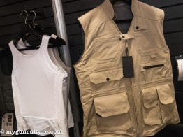 """Miguel Caballeros showed off some normal """"clothing"""" that's actually body armor. Cool stuff used by VIPs and regular folks all over the world."""