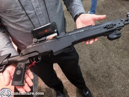 The new Crimson Trace LinQ laser and light system for AK rifles also works on the Springfield Armory SOCOM CBQ model.