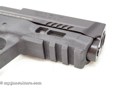 Like their predecessors, the M&P 2.0 models have accessory rails for lights and laser attachment.