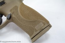 The new grip texture of the M&P 2.0 models is aggressive - and effective.