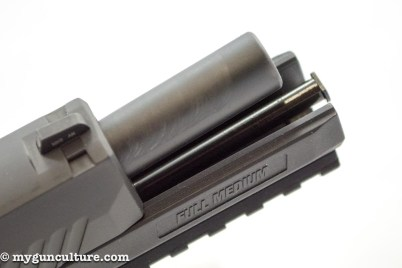 Like many other modern semi-automatic pistols the Sig P320 uses a tilting barrel recoil system.