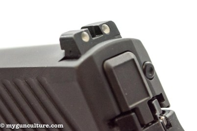 It may look like a hammer, but the Sig Sauer P320 is a striker-fired design.