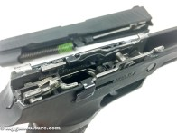 """The actual """"firearm"""" is this internal chassis. The frame, barrel, and slide are all just parts, so mix and match of sizes, barrel lengths, and calibers is simple."""