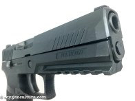 This Sig Sauer P320 has a full size frame and is chambered in .357 Sig caliber.