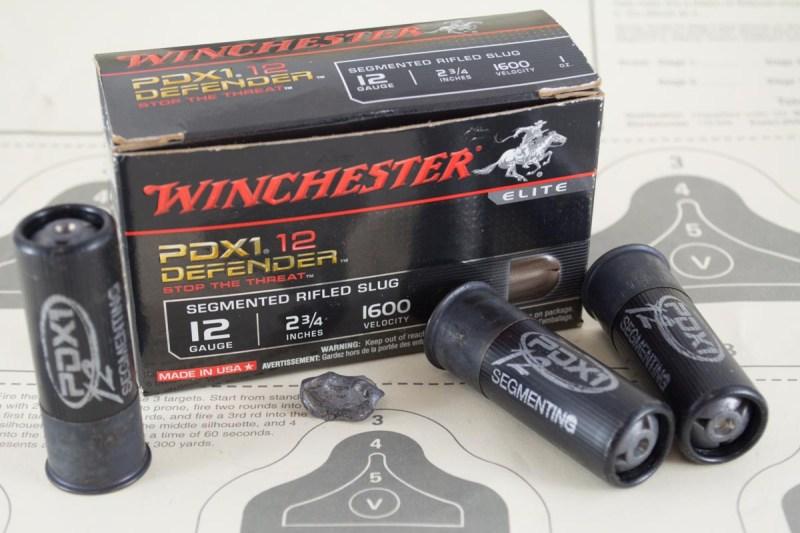 Winchester Ammunition's PDX1 Defender Segmenting Slugs.