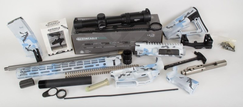 Here's your new rifle! Don't worry, we're going to put it together. Read on for details.
