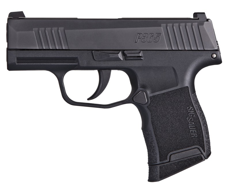 The standard magazine of the P365 holds 10 rounds of 9mm while an extended version packs 12.