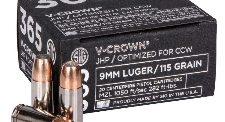 Sig Sauer Introduces New SIG 365 Ammunition Optimized for Everyday Carry