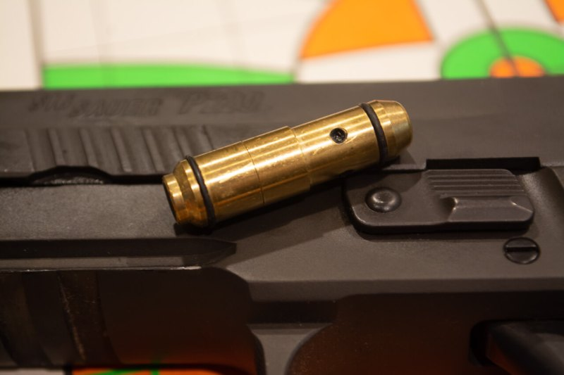 "I've been using this laser ""snap cap"" from LaserLyte. It allows you to see ""impacts"" with your regular gun."