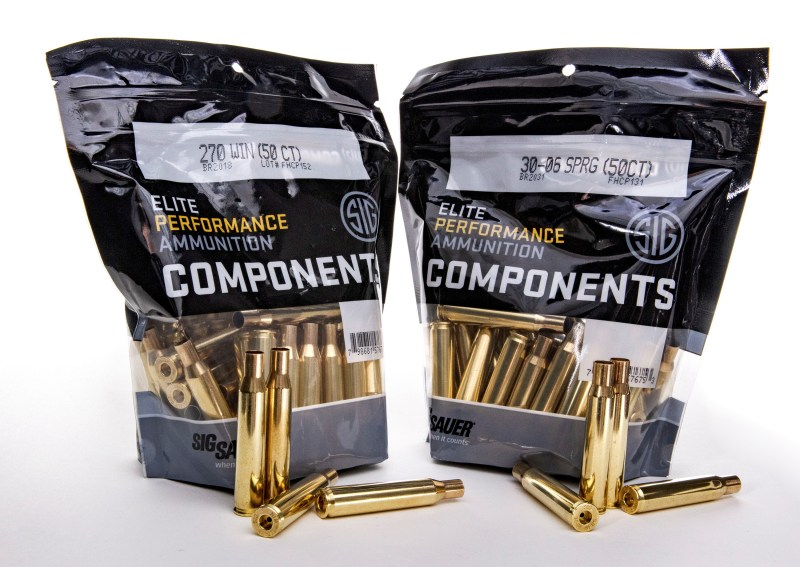 New Sig Sauer brass cartridge cases in .30-06 and .270.
