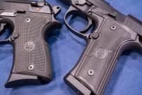 The 92X pistols ship with two grips in the box: a Vertec slim style and an all-new one-piece polymer version that's closer to the size of the original.