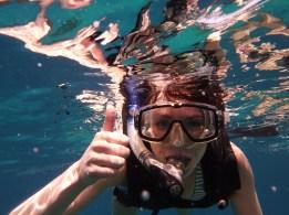 Pre-UC, snorkeling in Barbados.