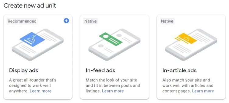 adsense ads type