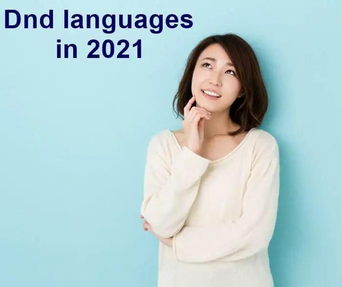 dnd languages