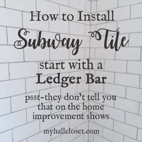 how to install subway tile start with