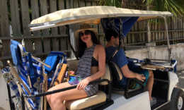 Harbour Island golf cart