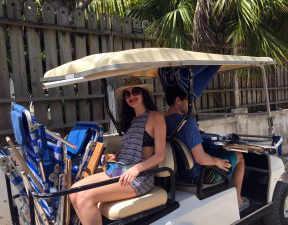 Harbour Island golf cart