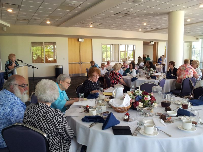 More than 70 retirees attended the annual President's luncheon at Harper College.