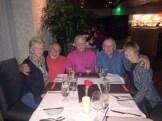 Snowbirds in Scottsdale AZ, Feb'16: Phil T & friend Mary Ellen, Steve C, Clete H & Joan; at Orange Sky restaurant at top of Talking Stick Resort.