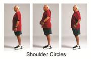 Demonstration of shoulder circles.