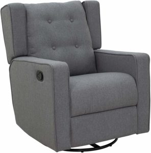 Homcom swivel gliding recliner