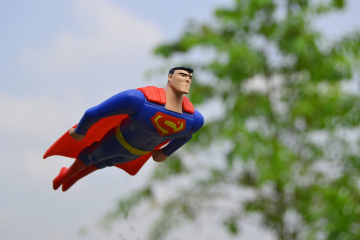 superman toy flying