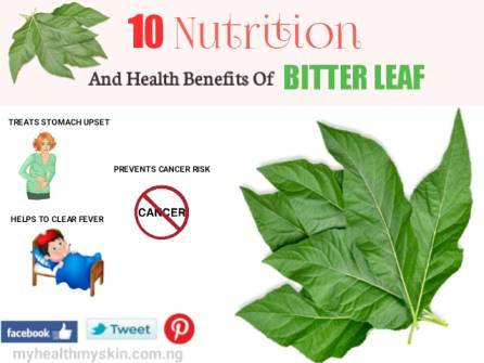 Nutrition and health benefits of Bitter leaf