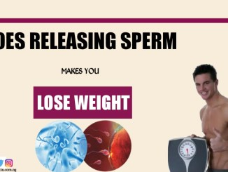 Does releasing sperm make you lose weight in men