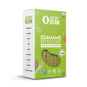 The Only Bean - Organic Edamame Fettuccine Pasta - High Protein, Keto Friendly, Gluten-Free, Vegan, Non-GMO, Kosher, Low Carb, Plant-Based Bean Noodles - 8 oz (1 Pack)