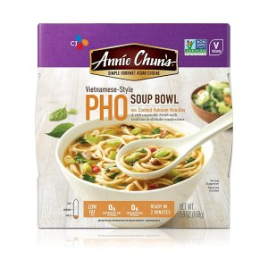 Annie Chun's Pho Soup Noodle Bowl | Non-GMO, Vegan, Shelf-Stable, 5.9-oz (Pack of 6), Vietnamese-Style Ready Meal