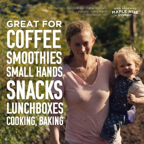 Maple Hill Shelf Stable Whole White Milk 100% Grass Fed, Organic, Non-GMO: 12 Pack 8 Fl Oz Aseptic Milk Boxes