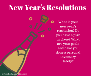 New Year's Resolutions. Have you done a personal inventory that will help you set your yearly goals