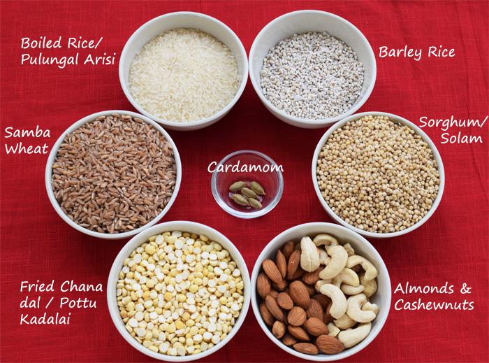 Ingredients for babies Sathu Maavu