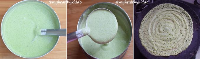 How to make Mudakathan keerai dosai step-4