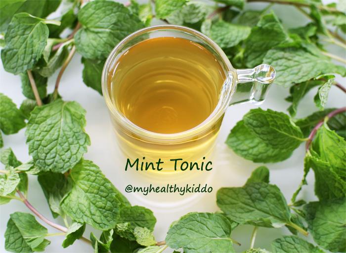 Homemade Mint Tonic 2