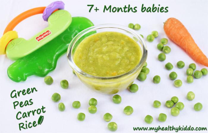 Green Peas Puree for babies-1