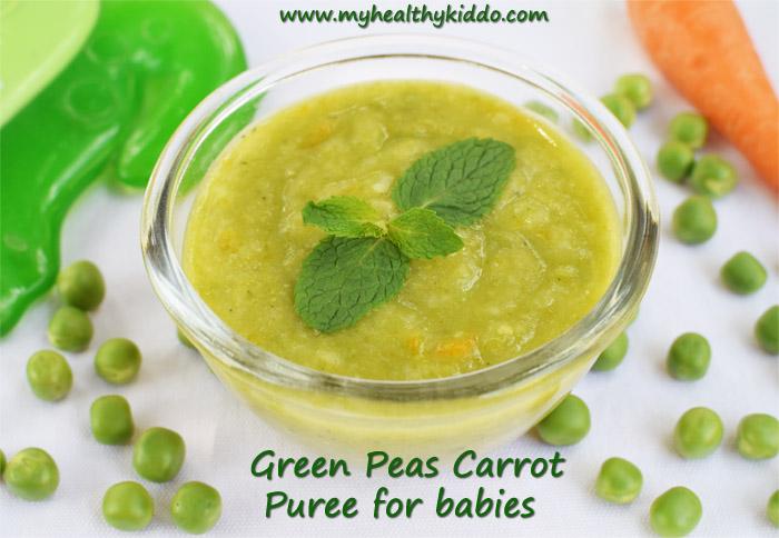 Green Peas Puree for babies-3