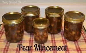 Pear Mincemeat