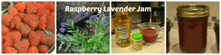 Raspberry Lavender Jam Collage