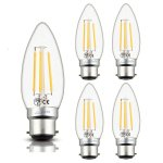 Luxvista B22 LED Filament Candle Light Bulbs