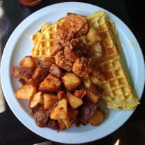 hogtown vegan - unchicken and waffles