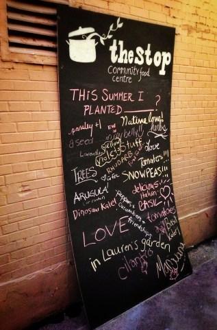 the stop chalkboard