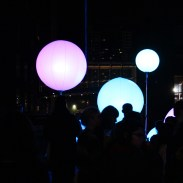 nuit blanche glowing balls